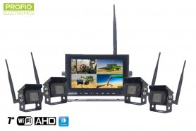 "Set telecamera di backup WiFi con monitor AHD wireless - 1x monitor AHD 7 ""+ 4x videocamera HD"