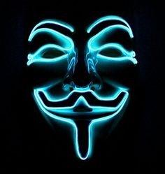 Neon Masken Anonymous - Blau