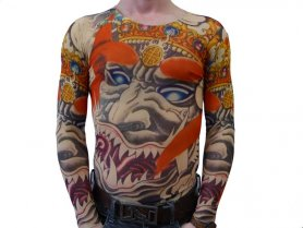 Tattoo T-Shirt - Scared Gesicht