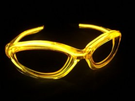LED Brille - Gelb