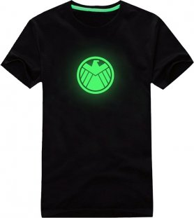 Glow in the dark-T-Shirt - Captain America