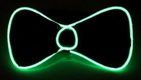 Flashing men bow ties - Green