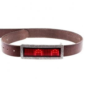 Led belt buckle - Red diamond