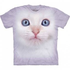 Animal face t-shirt - White cat