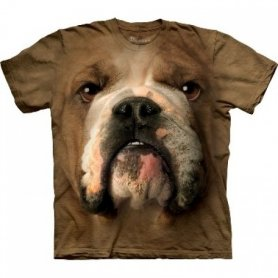 Tiergesicht t-shirt - English Bulldog