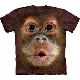 Animal twarz t-shirt - Orangutan