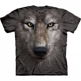 Animal twarz t-shirt - Wilk