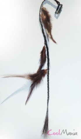 Estensione dei capelli Feather - Brown