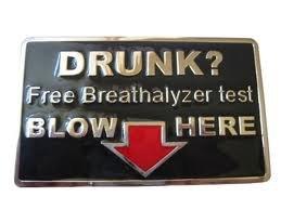 Fivela de cinto - bêbado