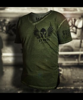 Gladiator T-shirt - Spray Effet Grunge