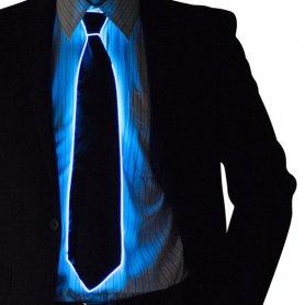 Neonová kravata - Modrá