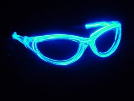 LED glasses - blue