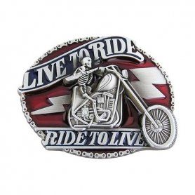 Live to ride - belt buckle