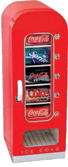 Retro frigorifero nello stile del distributore automatico con capacità di 18L / 10 lattine