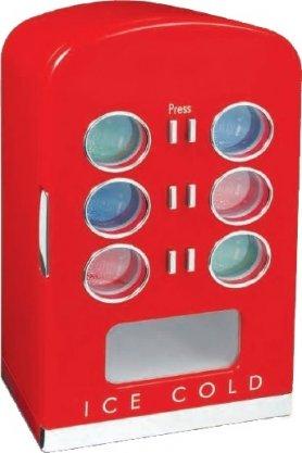 Retro chladničky s chrómovými doplnkami - 22L/ 12 plechoviek