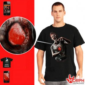 Interaktív Morph póló - Zombie