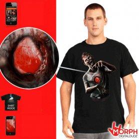 Interaktywna Morph T-shirt - zombie