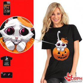 Lustige Morph-T-Shirts - Kitty