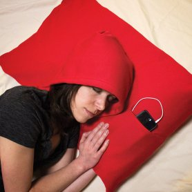 Hoodie MP3 pillow with hood