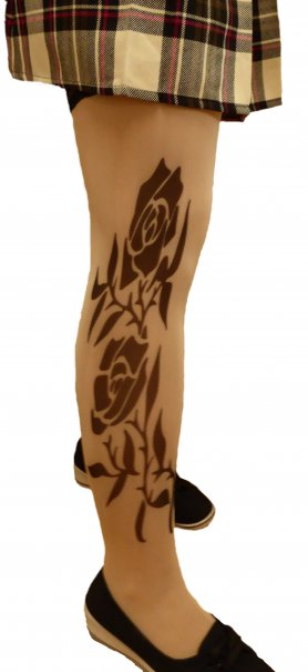 Tattoo pantyhose - Rose