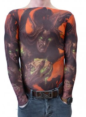 T-shirt with tattoo - Devil