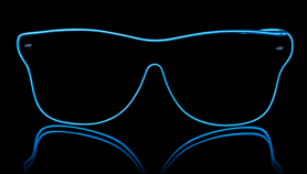 Neon goggles Way Ferrer style - Blue