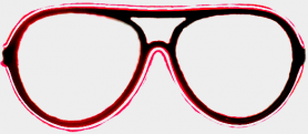 Neon glasses - Red