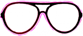 Neon glasses - Pink