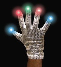 Disco RGB gloves - silver