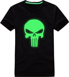 Fluoreszierenden T-Shirt - Punisher