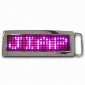 Flashing Belt Buckle - Purple