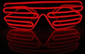Kratki LED okulary - Red