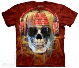 Батик рубашки - Череп Rocker