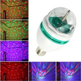 Rotating disco RGB LED bulb