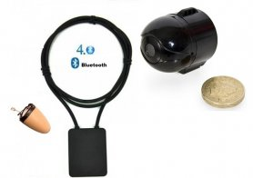 SET - mini camera spion Wifi cu casca Spy