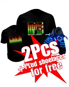 Купи 2 LED тениски и получи 1 LED обувки безплатно