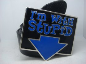 I Am with Stupid - buckle