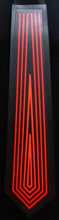 Tron cravate LED - Rouge