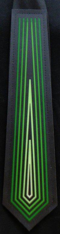 Kravata Equalizer - Zelená