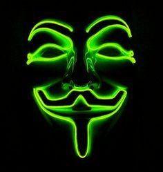 Halloween maske LED - zelena