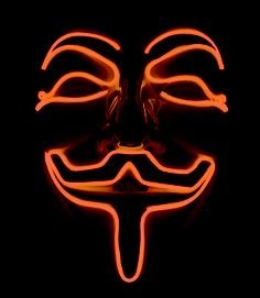 Anonymous Mask - Arancione