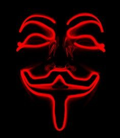 Masks shining Anonymous - Red