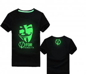 Fluorescentní trička - V for Vendetta