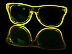 LED goggles Way Ferrer style - Yellow