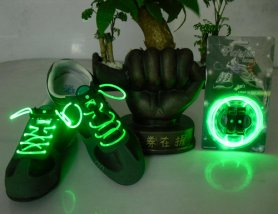 LED shoelaces - green