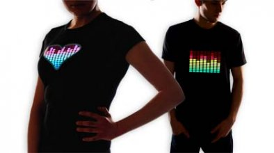 T-shirts LED à bon prix