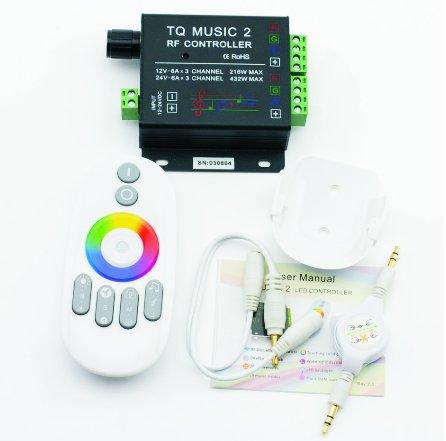 Wi-Fi remote control SOUND SENSITIVE + RGB colors for silicone LED RGB strip