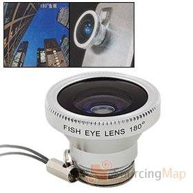 Fisheye lens for mobile phones