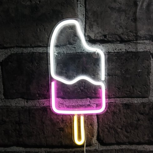 Neon light signs ICE CREAM for advertisement​