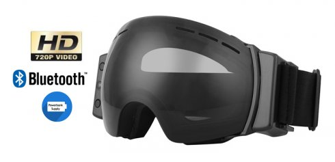 Ski and snowboard goggles with HD camera and Bluetooth